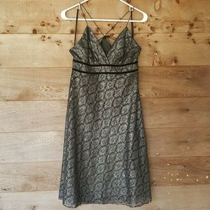 Metallic Lace dress from The Limited